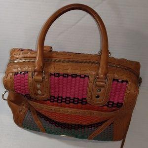 Rebecca Minkoff Leather MAB Woven Shoulder Bag